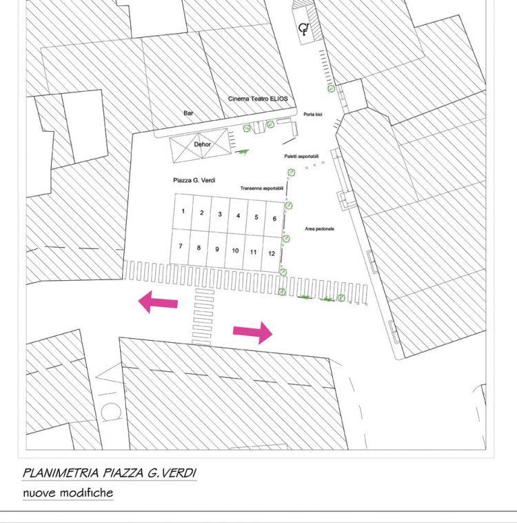 Piazza Verdi, si cambia – più parcheggi e meno area pedonale
