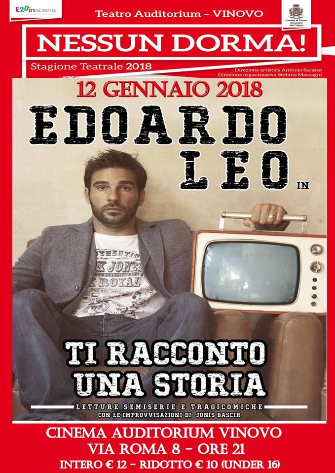 Vinovo: Edoardo Leo apre la stagione teatrale