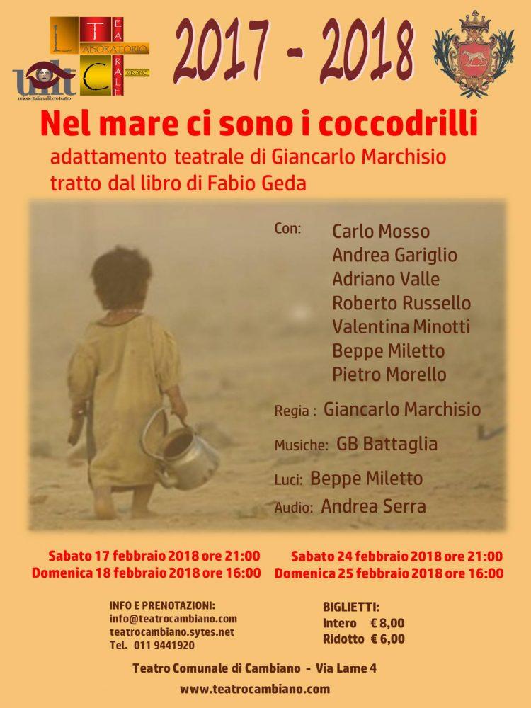 Cambiano: il Laboratorio Teatrale mette in scena Fabio Geda
