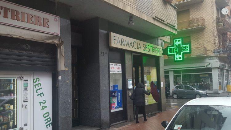 MONCALIERI – Farmacia di via Sestriere rapinata da un uomo