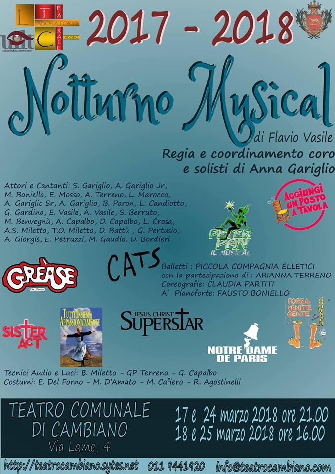 Cambiano: Nostalgico musical a teatro