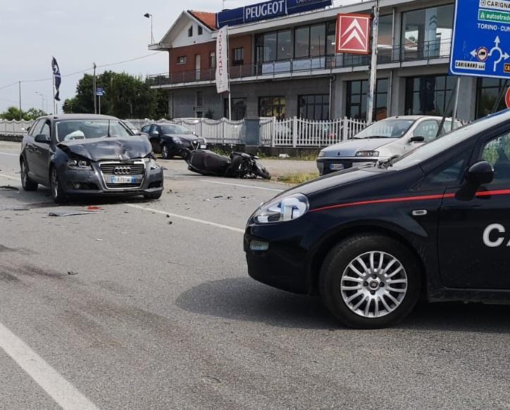 CARIGNANO – Schianto sulla 142, muore un motociclista di Torino