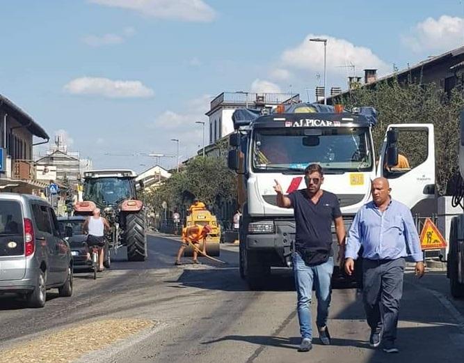 CARMAGNOLA – Maxi intervento di asfaltatura sulle strade del Comune