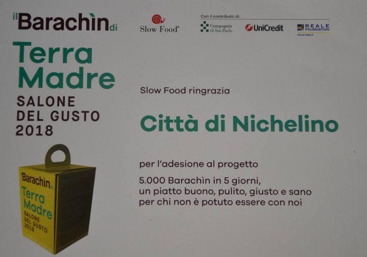 NICHELINO – Alla Città una targa di ringraziamento da Terra Madre e Slow Food