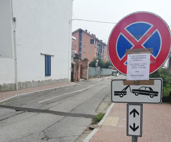 Via Rigolfo: finalmente si comincia ad asfaltare la strada tra Trofarello e Moncalieri