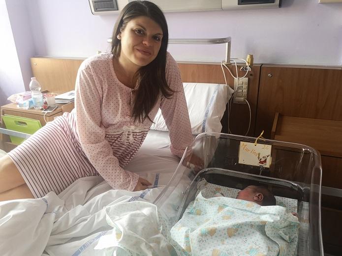 MONCALIERI – La prima nata al Santa Croce del 2019 è Martina