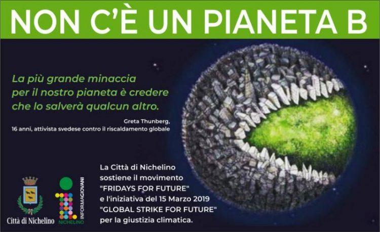 """NICHELINO – La Città partecipa al """"Gobal Strike for future"""""""