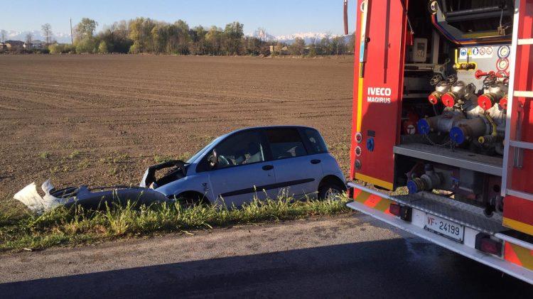 CARIGNANO – Incidente sulla provinciale per Pancalieri