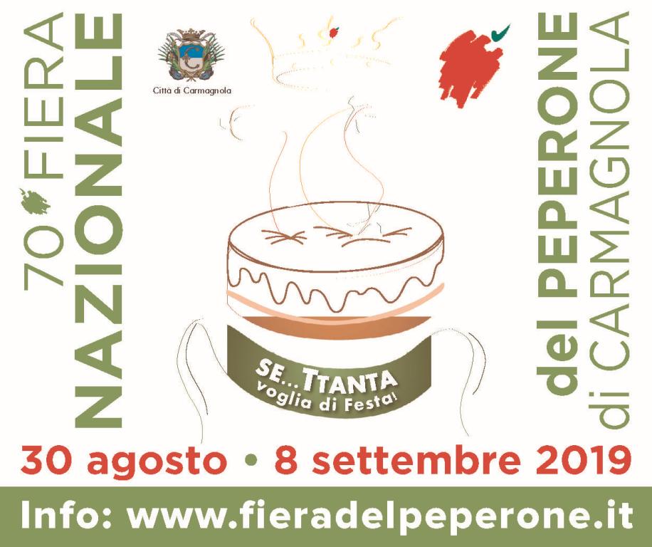 Stasera alle 21 a Carmagnola si inaugura la Fiera del Peperone numero 70