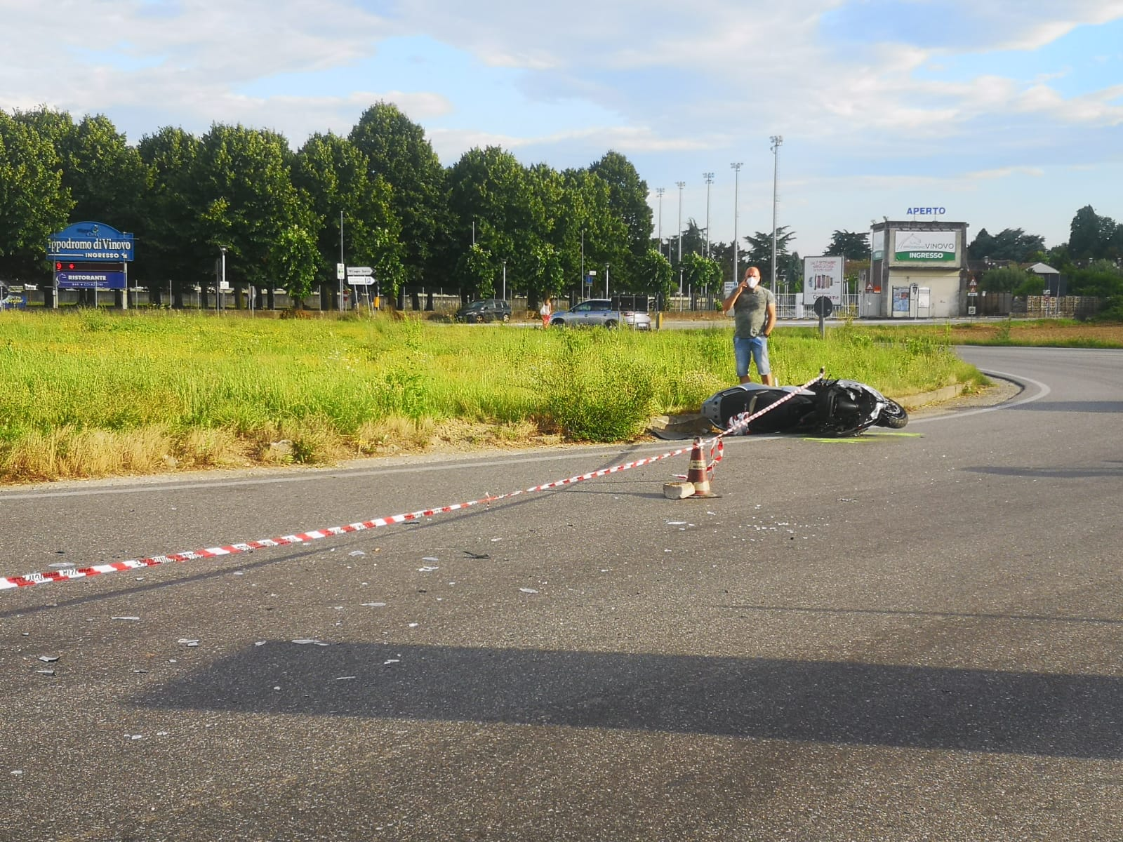 NICHELINO – Tragedia alla rotatoria di Mondojuve: muore un motociclista