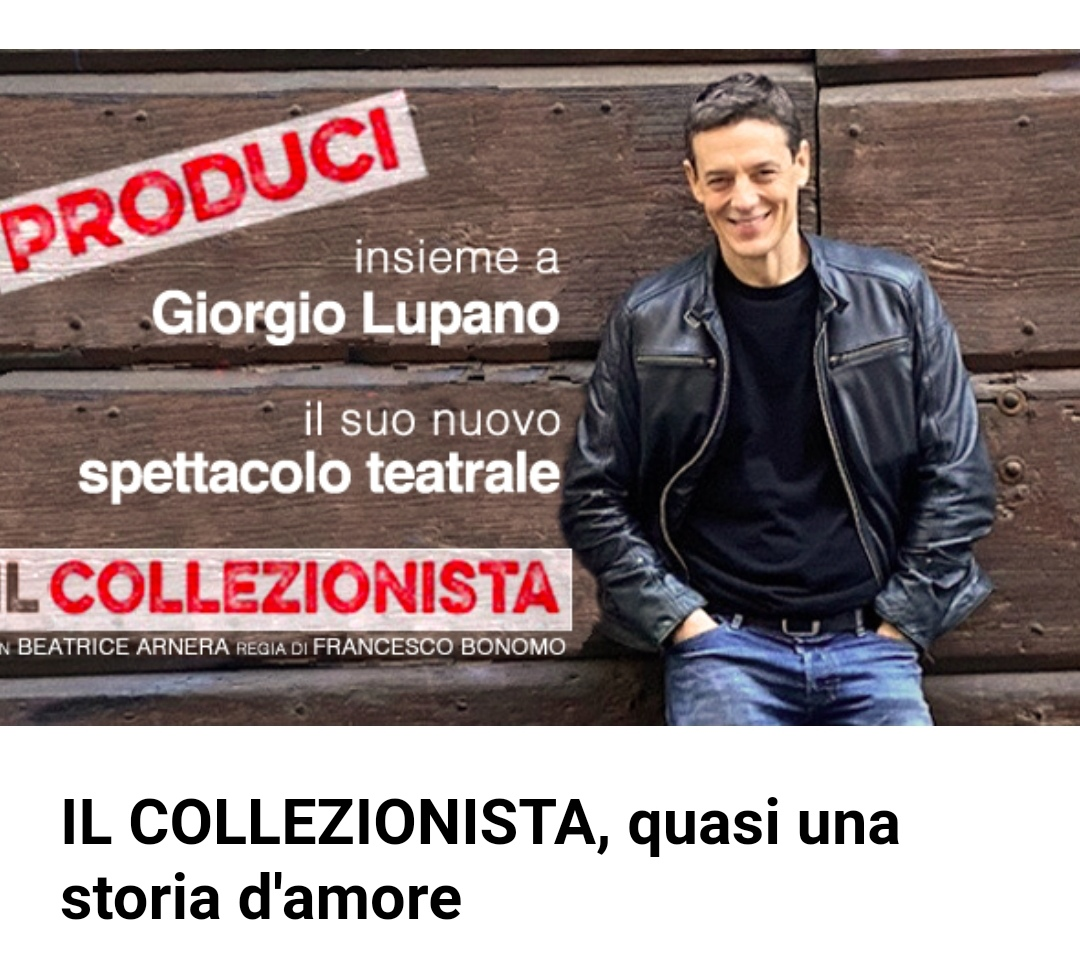 Va in scena Il Collezionista, con l'attore trofarellese Giorgio Lupano