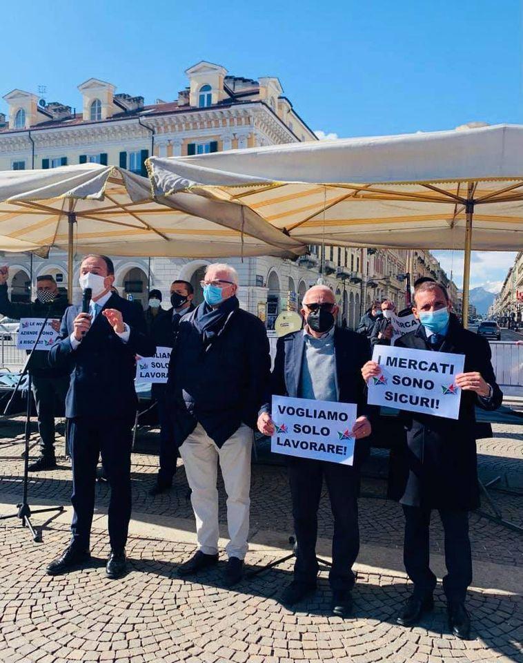 """REGIONE – Cirio: """"In piazza con gli ambulanti, al governo chiederemo un cambio di passo"""""""