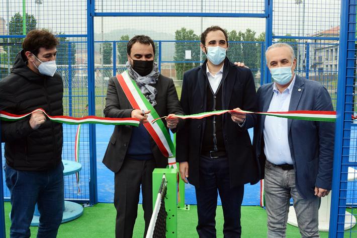 L'Impianto Einaudi si rinnova e amplia gli sport, presentati i tre nuovi campi da padel