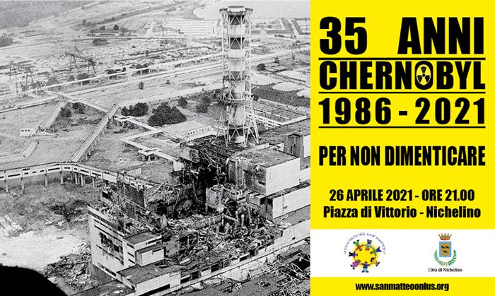 NICHELINO – Il 26 aprile Comune ricorda Chernobyl e si illumina con i colori della bandiera bielorussa
