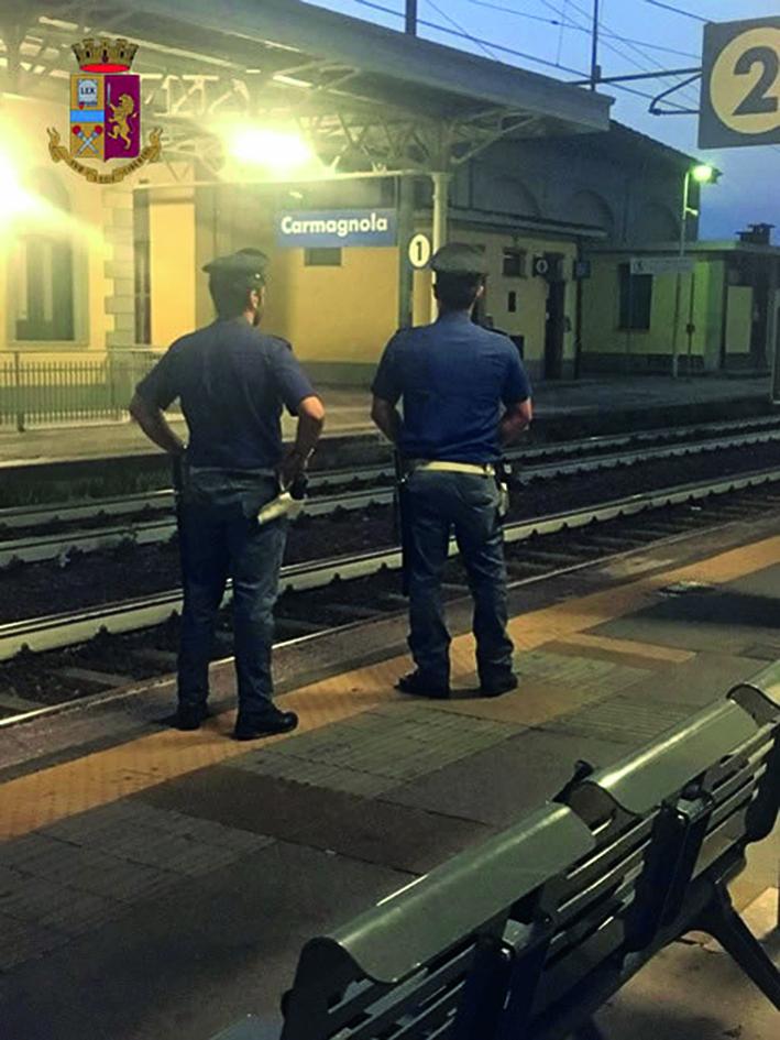 CARMAGNOLA – La Polfer sorveglia la stazione