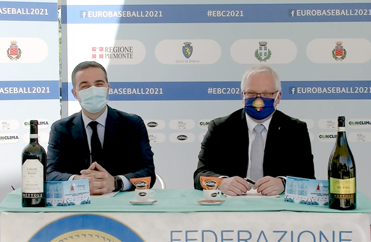 Europei di baseball, presentati calendario e Charity Partnership con Candiolo-Irccs