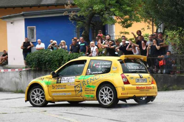 Al Rally dei 2 laghi sono sempre Caffoni e Minazzi i protagonisti