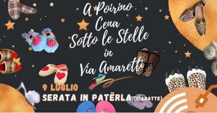 A Poirino la cena sotto le stelle: venerdì 9 luglio, in via Amaretti