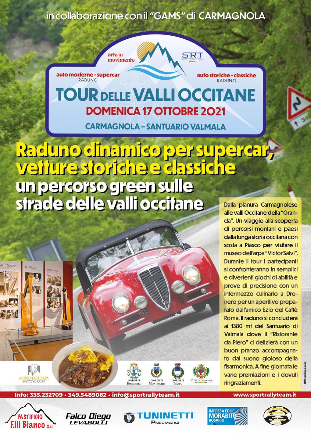 CARMAGNOLA – Il raduno dello Sport Rally Team sale al Santuario di Valmala, al suono dell'arpa