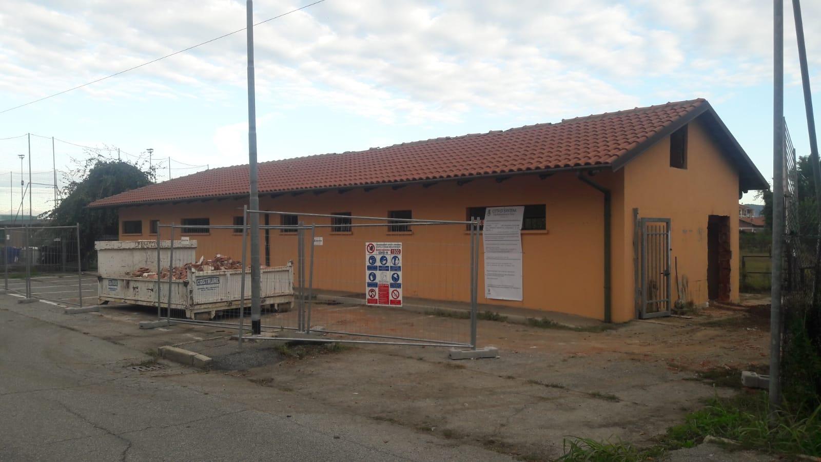 SANTENA – Iniziato il restyling del centro sportivo Renzo Cavagnero