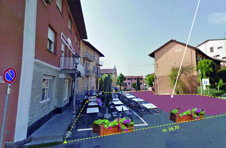 Cambiano: piazza Giacomo Grosso, nuovo look nel 2018