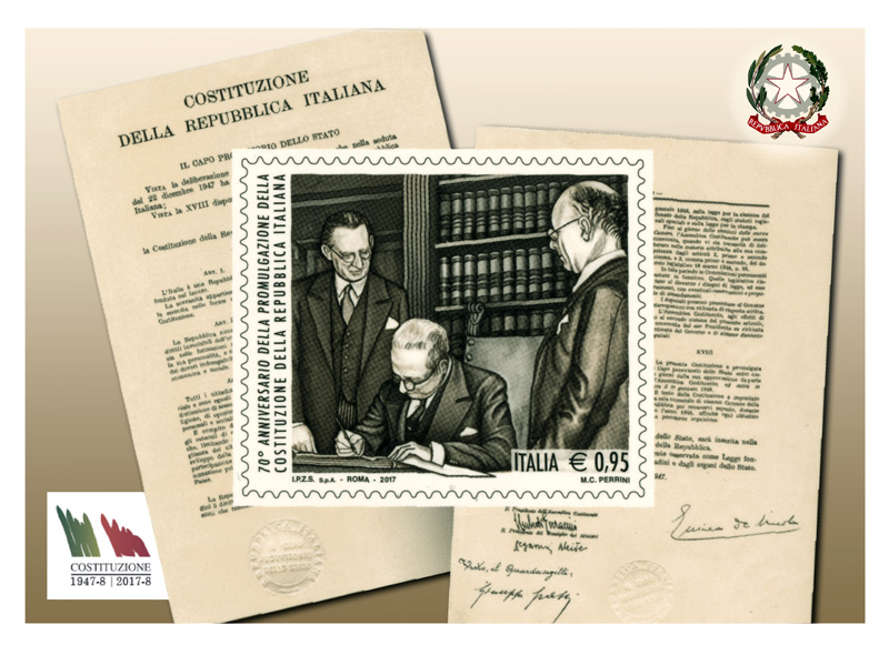 Un francobollo per i 70 anni della Repubblica