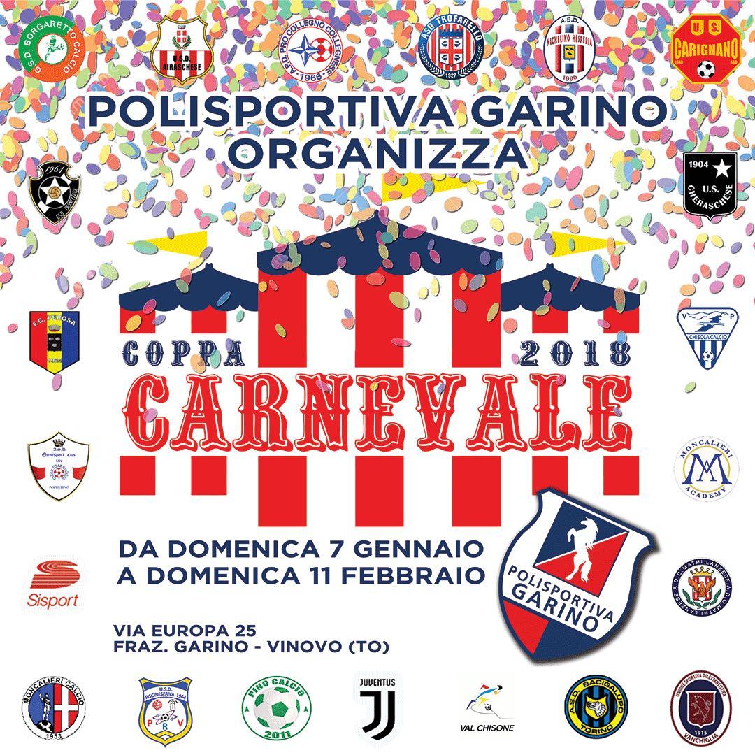 La coppa Carnevale alla polisportiva Garino batte il record di squadre partecipanti