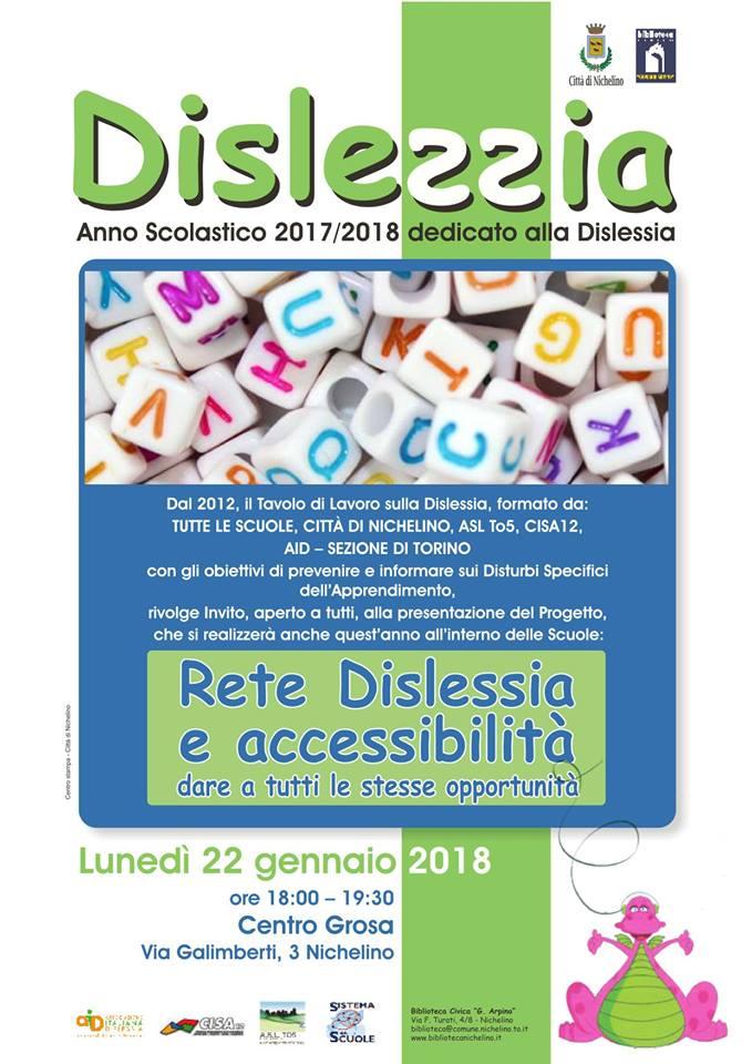 NICHELINO – Rete Dislessia e accessibilità: dare a tutti le stesse opportunità