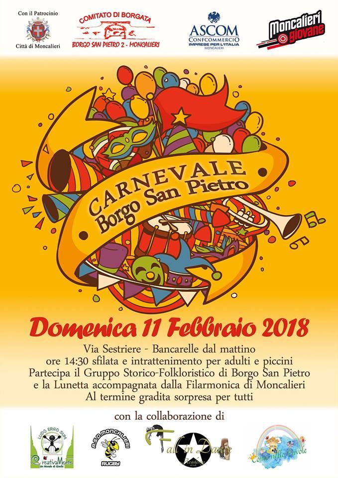 Domenica 11 febbraio il Carnevale di borgo San Pietro