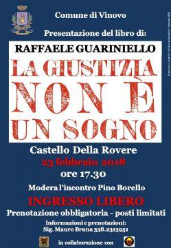 Al Castello di Vinovo appuntamento con il libro di Guariniello
