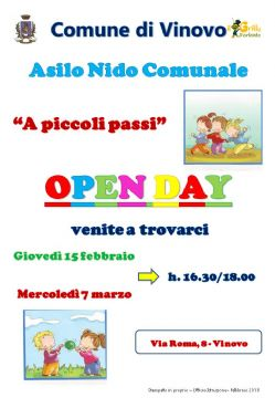 "Open day all'asilo nido ""A piccoli passi"" di Vinovo"
