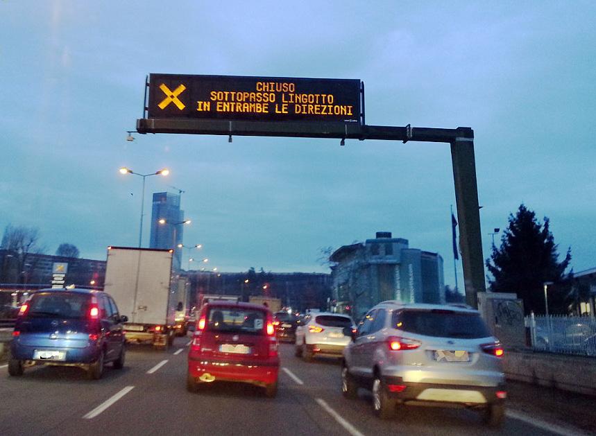 VIABILITA' – Due serate con il sottopassaggio del Lingotto chiuso per lavori