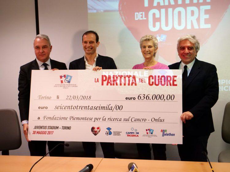 La partita del cuore dona 636mila euro alla Fondazione per la Ricerca sul Cancro