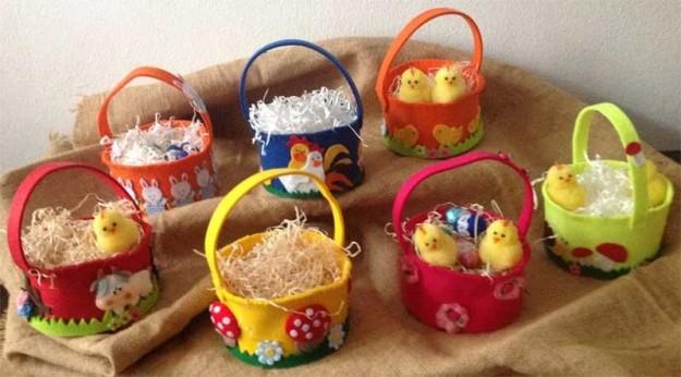Cestini di Pasqua per i bambini del Regina