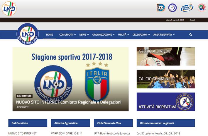 Nuovo sito internet per il Comitato Regionale Piemonte e Valle d'Aosta Figc