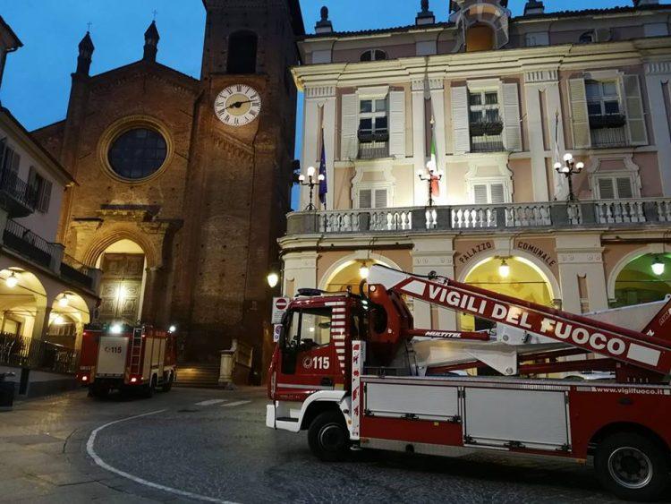 MONCALIERI – Principio di incendio in centro storico