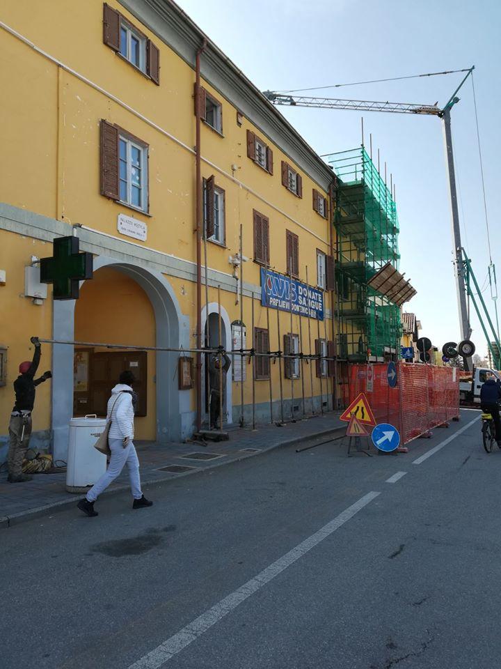 VILLASTELLONE – Iniziati i lavori di ristrutturazione di Palazzo Wojtyla