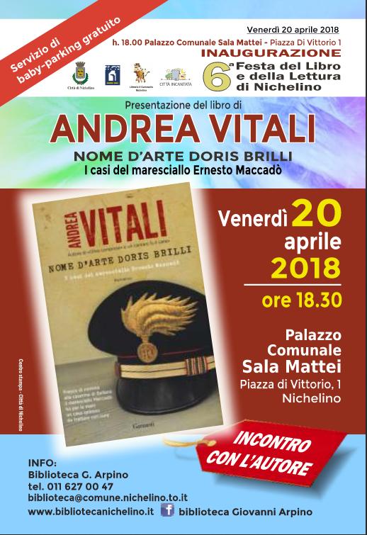NICHELINO – Andrea Vitali primo autore alla Festa del Libro
