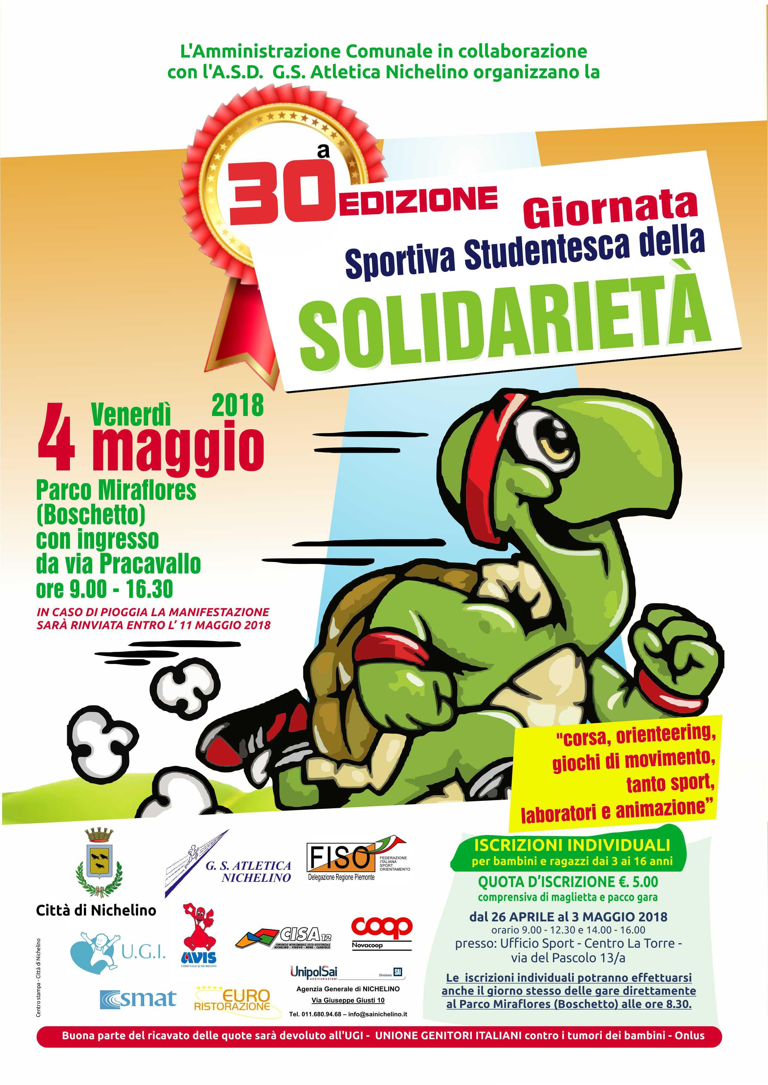 NICHELINO – 30 esima edizione della giornata sportiva della solidarietà