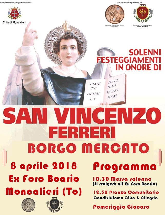 MONCALIERI – Domenica torna la festa patronale a Borgo Mercato