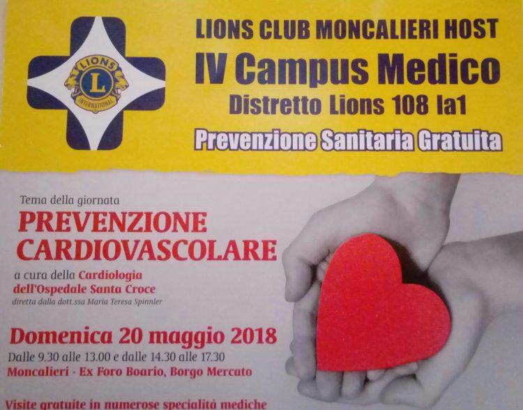 Moncalieri prevenzione salute con il Campus Lions