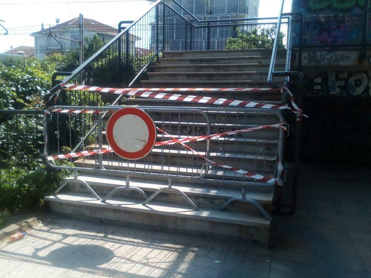 MONCALIERI – Ringhiere insicure: chiusa la passerella di borgo San Pietro