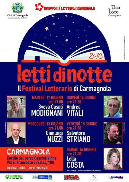 """""""Letti di Notte"""" ritorna per stupire. A Carmagnola, dal 12 al 16 giugno"""