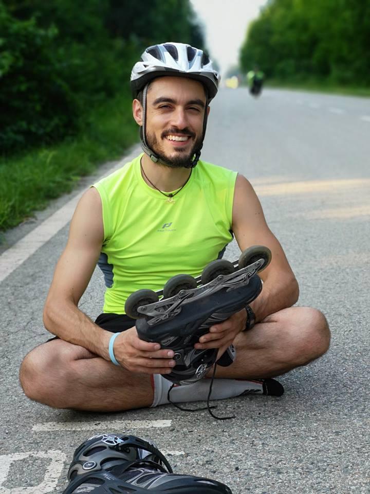NICHELINO – Giro del mondo in pattini a rotelle Rosario Basciotti