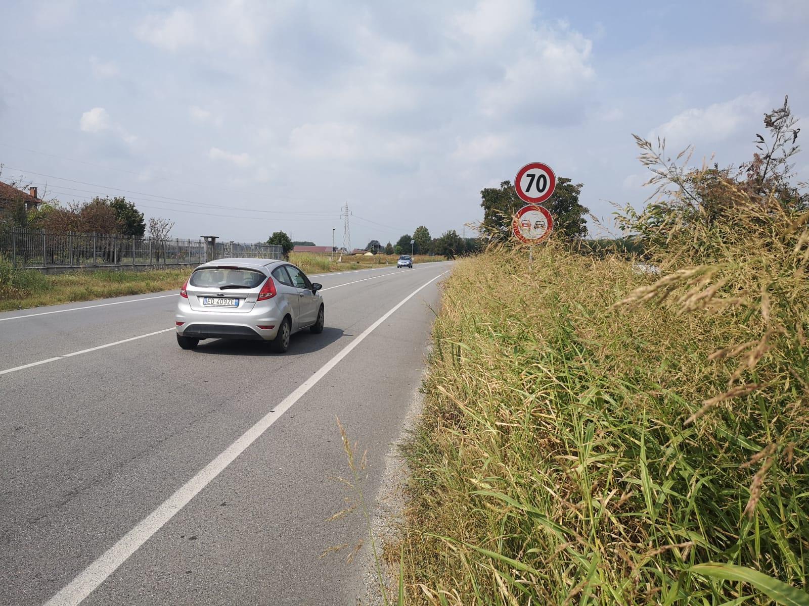 CARIGNANO – Erba alta lungo la provinciale 142