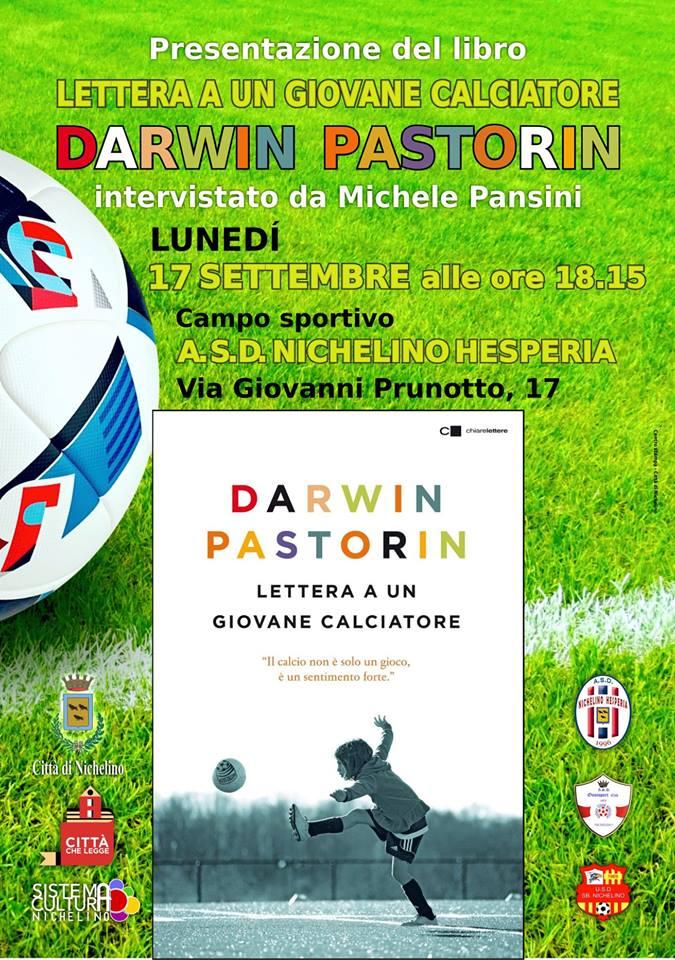 NICHELINO – Darwin Pastorin presenta il suo libro all'Hesperia