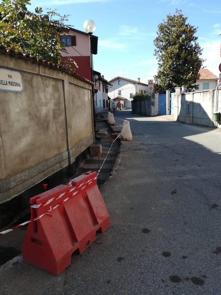 VILLASTELLONE – Via ai lavori di rifacimento di via Della Madonna