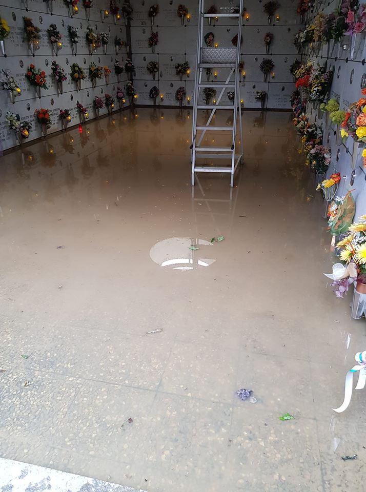 TROFARELLO – Cimitero allagato dopo il maltempo