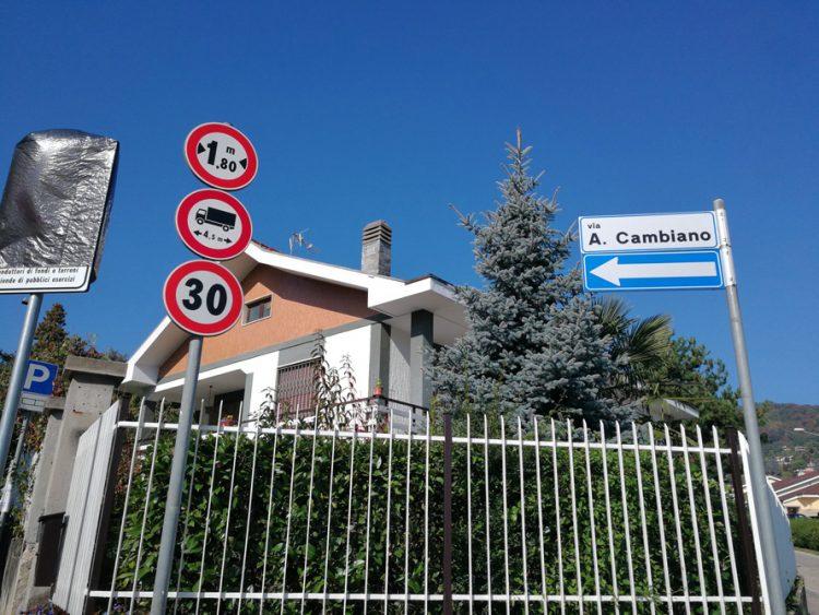 PECETTO – Via Cambiano riservata ai residenti