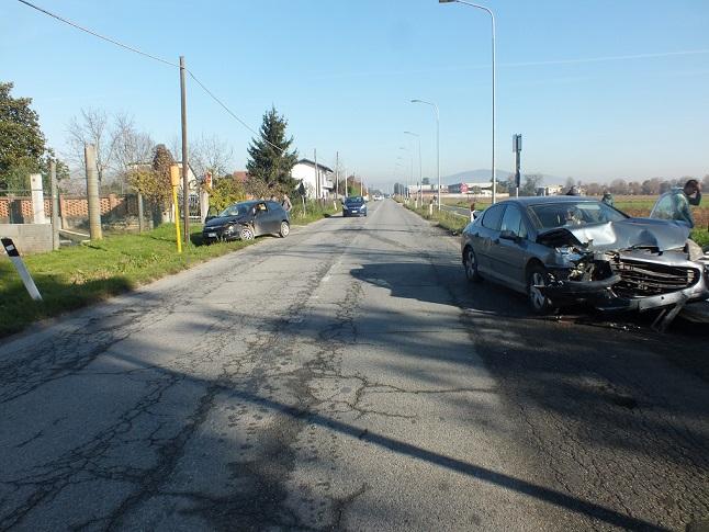 VINOVO – Incidente su via Sestriere: due feriti